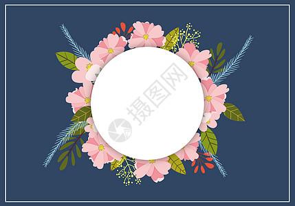 粉色小花环图片