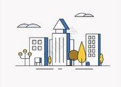 简约城市插画图片