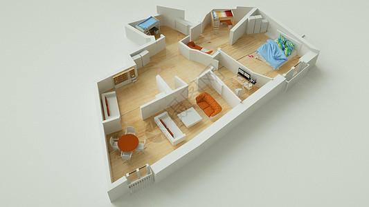住宅室内模型图片