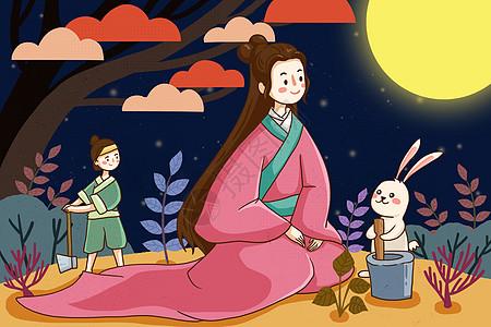 中秋节的神话故事图片