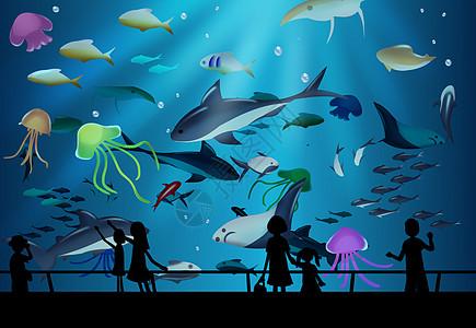水族馆游玩图片