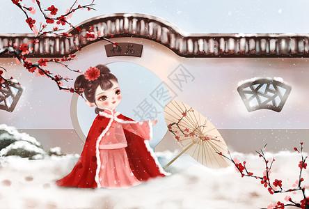 中国风小雪图片