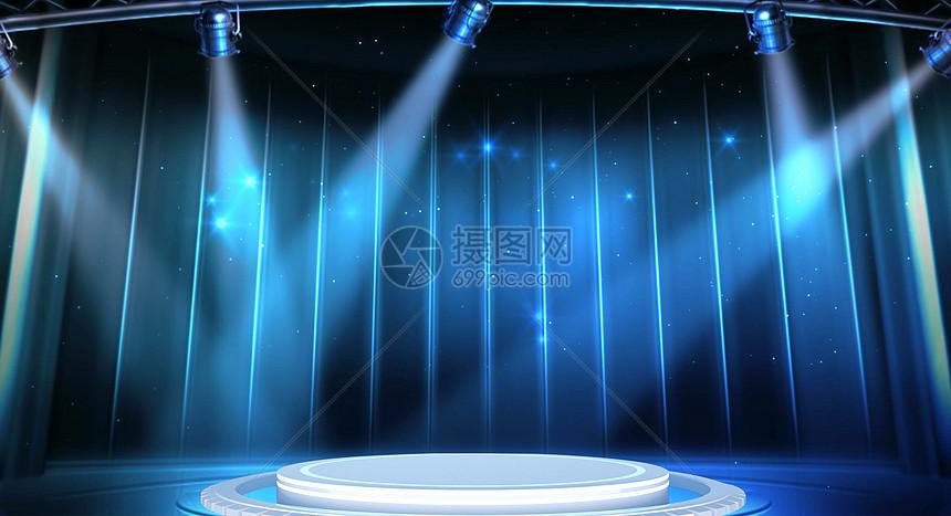 科技舞台背景图片
