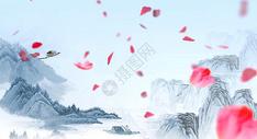 水墨风山水背景图片