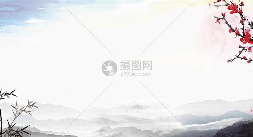 中国风山丘背景图片