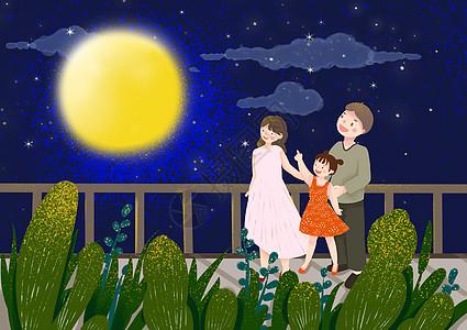 中秋节赏月图片