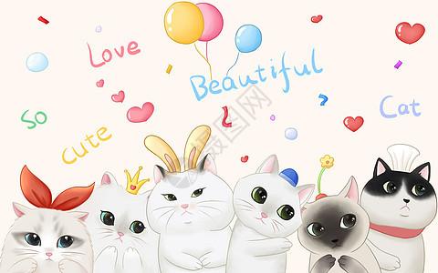 可爱猫咪卡通动物图片