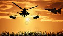 直升机背景图片