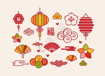 中国风中秋传统节日元素图片