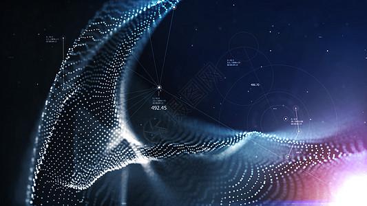 大数据粒子背景图片