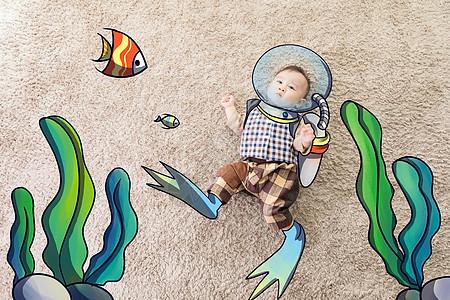 宝宝的海底世界图片