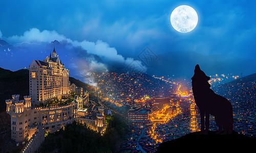 城堡夜景图片