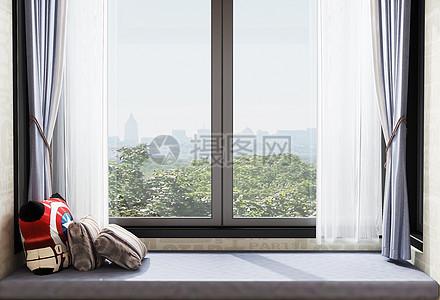 现代简约家居窗台图片
