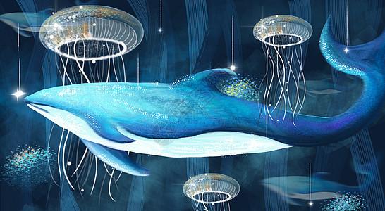 深海的鲸图片
