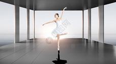 阳光下的芭蕾女孩图片