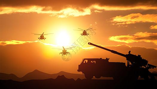 战争演习场景图片