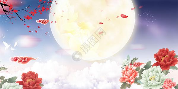 中秋节圆月图片