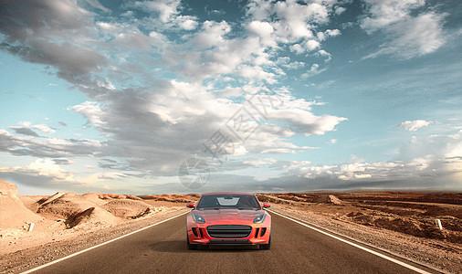沙漠跑车场景图片