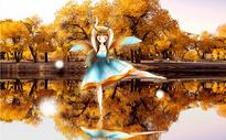 胡杨林的精灵图片