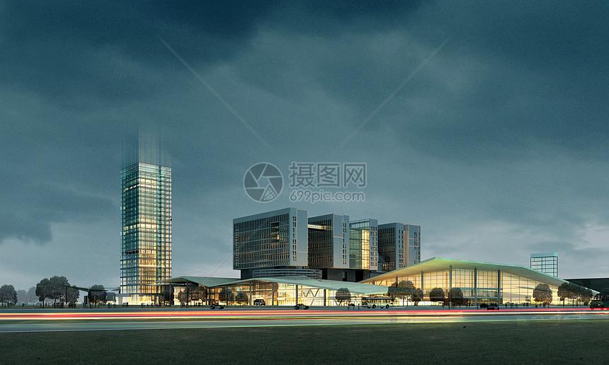 现代建筑远景图片
