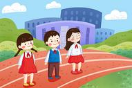 学校升国旗图片