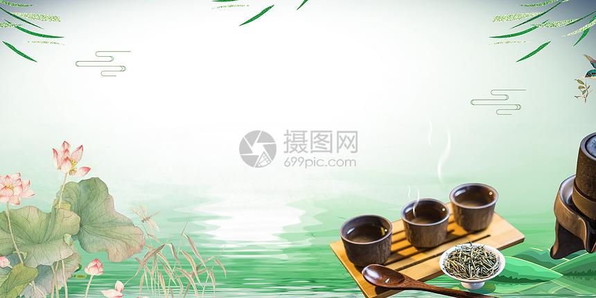 绿茶养生图片