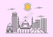 线条城市图片