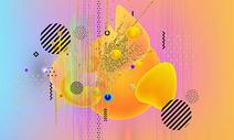 炫彩抽象背景图片