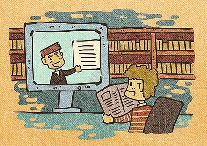 线上学习图片
