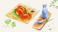 秋季秋分肥美大闸蟹图片