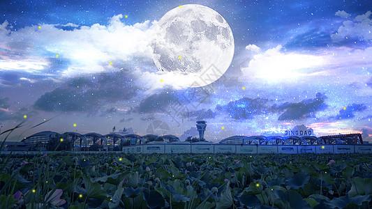 中秋月圆夜图片