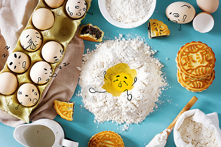 中秋节做月饼食材picture