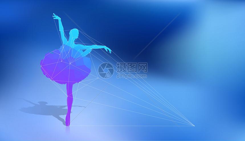 线描舞蹈图片