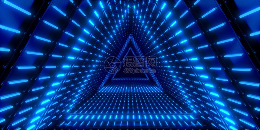 霓虹灯光空间图片