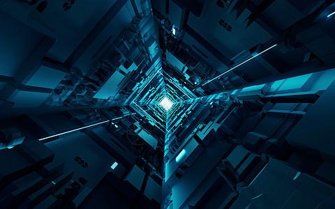 科技空间隧道图片
