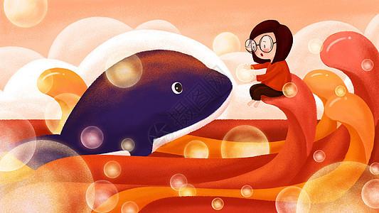 红色鲸梦图片