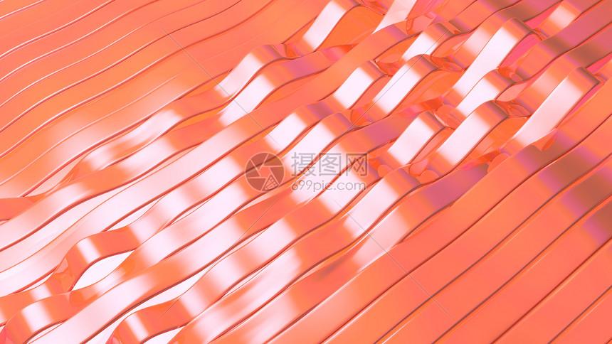 色彩波浪条纹图片