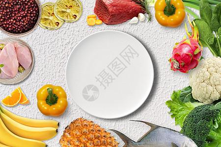 营养膳食搭配图片