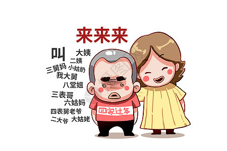 乐福小子卡通形象叫亲戚配图图片