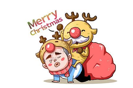 乐福小子卡通形象圣诞快乐配图图片