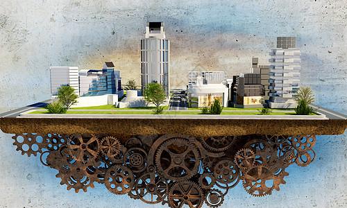 机械城市图片