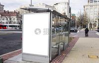 现代公交站牌样机图片
