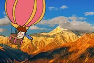 热气球旅行创意摄影插画图片