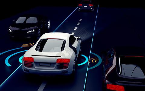汽车自动驾驶场景图片