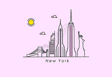 纽约地标建筑图片