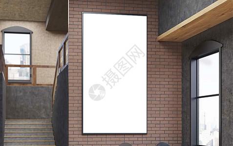 复古地铁站挂画样机图片