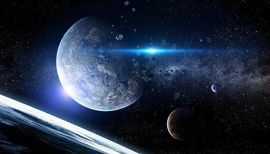 宇宙陨石空间图片