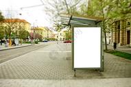 公交站牌展板样机图片