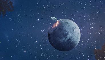 星球撞击图片