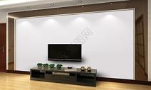 现代电视背景墙样机图片